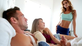 Busty Milf Mom teaches her step daughter